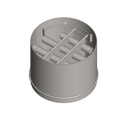 Dvoupatrový magnetický rošt v potrubí na konec balicí linky - DMRP